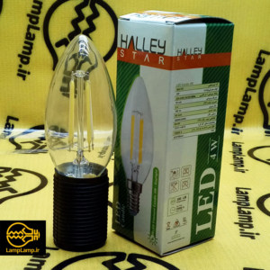 لامپ ال ای دی شمعی E14 فیلامنتی ۴ وات برند هالی استار