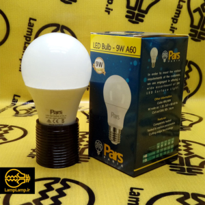 لامپ ال ای دی حبابی ۹ وات آفتابی و مهتابی سرپیچ e27 پارس پریا