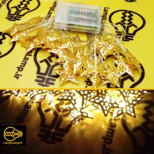 ریسه ال ای دی ستاره ای ۲۰ تایی تزئیناتی زرد