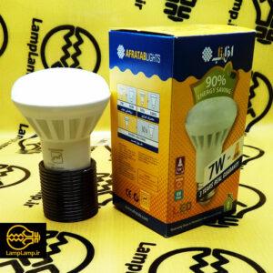 لامپ ال ای دی ۷ وات سفید حبابی برابر ۹۰ وات سازنده افراتاب