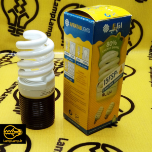 لامپ کم مصرف ۱۵ وات تمام پیچ با ۱ سال گارانتی واقعی افراتاب