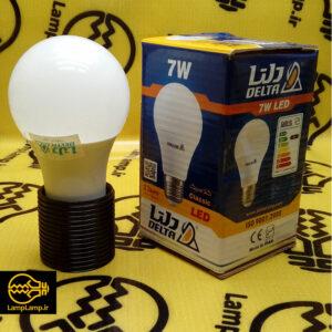 لامپ ال ای دی 7 وات حبابی فوق کم مصرف دلتا پایه e27