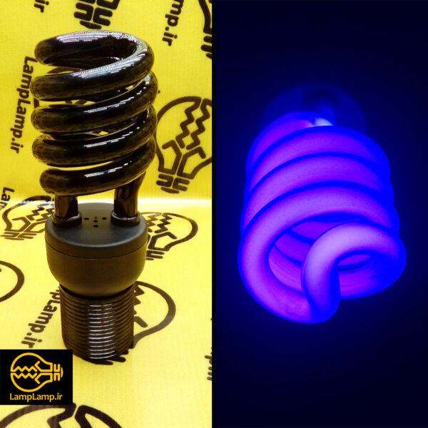 لامپ یو وی کم مصرف 40 وات نیم پیچ سرپیچ e27 نهاد نور