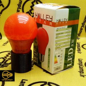 لامپ ال ای دی رنگی قرمز ۹ وات حباب دار هالی استار