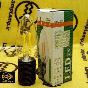 لامپ شمعی فیلامنتی 6 وات e14 هالی استار