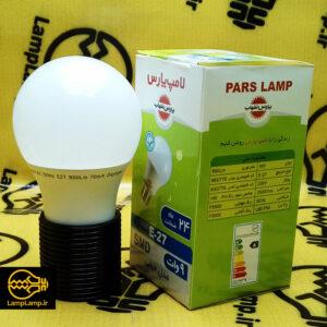 لامپ ال ای دی ۹ وات سفید حباب مات پارس شهاب