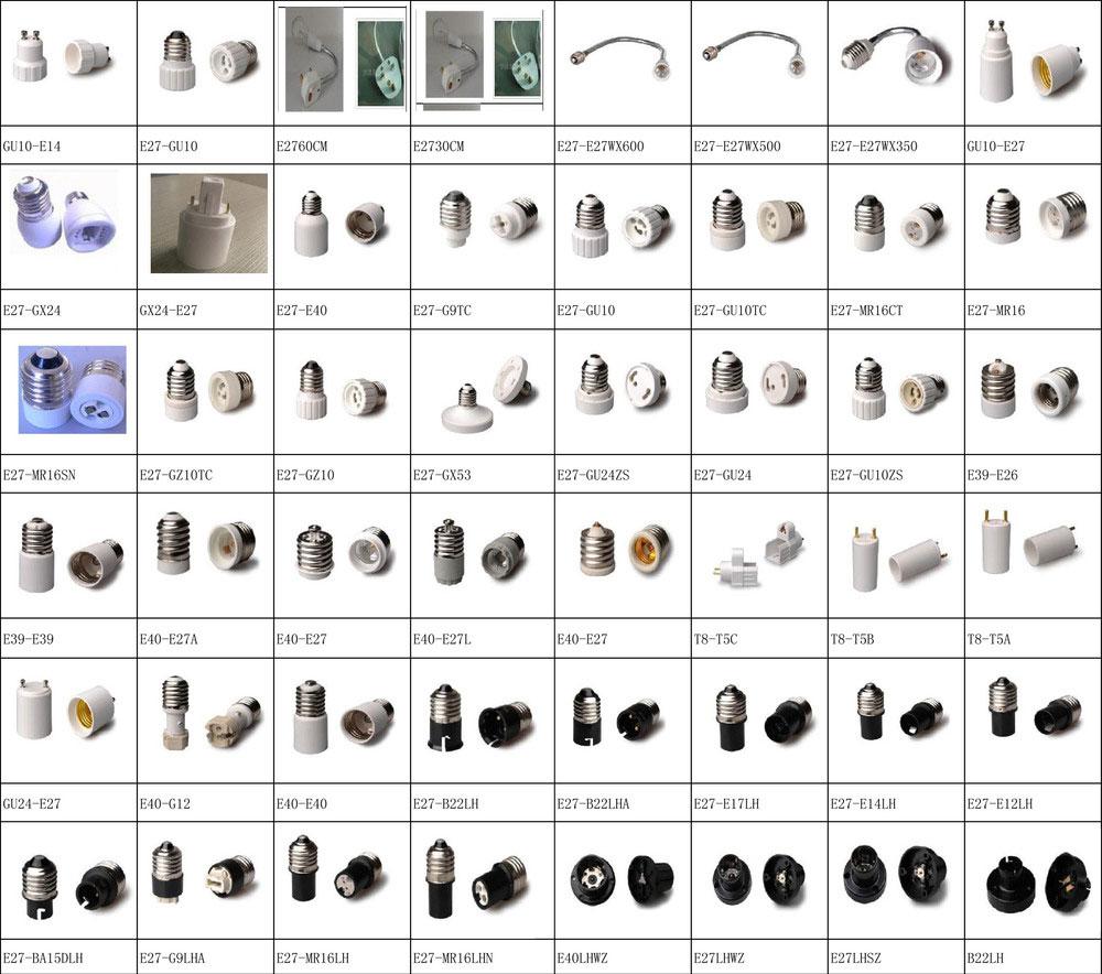 انواع تبدیل سرپیچ لامپ