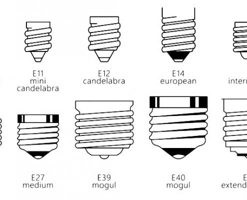انواع سرپیچ لامپ (دسته E)