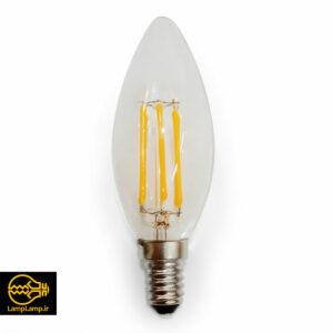 لامپ فیلامنتی لوستری ۶ وات پایه e14 مدل کندل