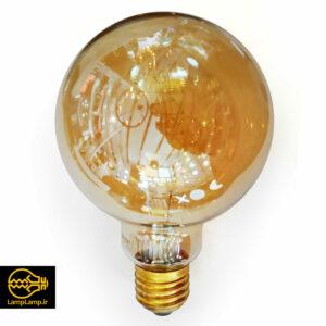 لامپ فیلامنتی ادیسونی حبابی گرد ۶۰ وات برند zfr