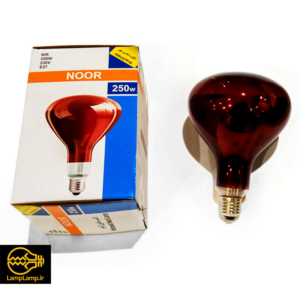 لامپ مادون قرمز (اینفرارد) ۲۵۰ وات e27 نور لامپ