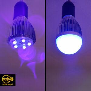 لامپ بلک لایت ال ای دی ۱۵ وات حبابی