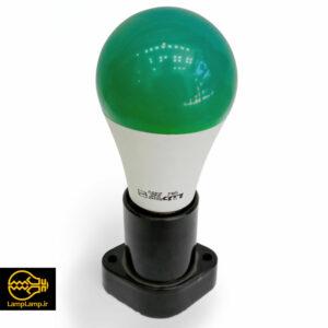 لامپ ال ای دی رنگی سبز ۹ وات حبابی پایه e27 دلتا