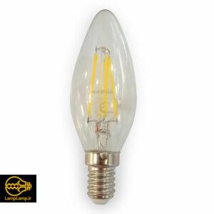 لامپ شمعی فیلامنتی ۴٫۵ وات سفید طبیعی (نچرال) پایه e14