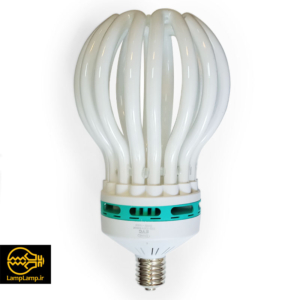 لامپ کم مصرف ۲۰۰ وات مدل لاله پایه e40 رنگ سفید
