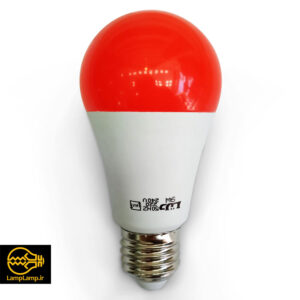 لامپ ال ای دی رنگی قرمز توان ۹ وات پایه e27 دلتا
