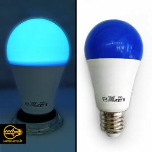 لامپ ال ای دی رنگی آبی ۹ وات e27 بسیار کم مصرف دلتا