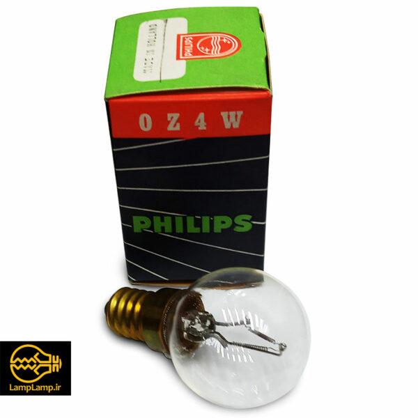 لامپ یو وی سی ازون ساز 4 وات حبابی پایه e14 فیلیپس هلند