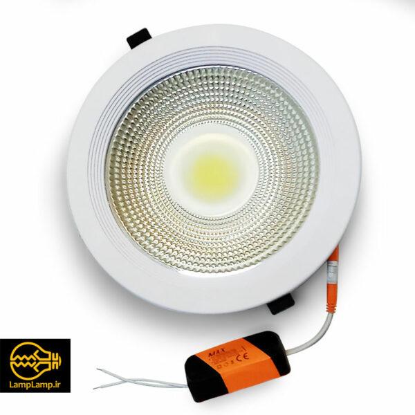 چراغ پنل ال ای دی گرد توکار توان 30 وات مکس