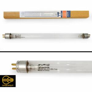 لامپ uv گرید c برای استریل توان ۶ وات نور