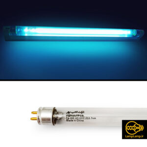 لامپ یو وی گرید سی (uv-c) توان ۸ وات نور لامپ