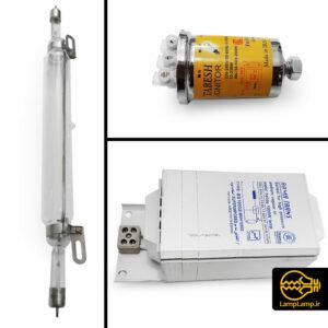 لامپ یو وی ۱ کیلو وات صنعتی بخار جیوه اوکراینی