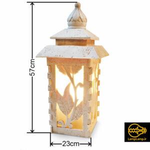 چراغ سنگی مخصوص محوطه مدل کلارا ارتفاع ۵۷ سانتی