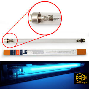لامپ یو وی سی ۱۵ وات ۲۵۳٫۷ نانومتر پایه g13 نور