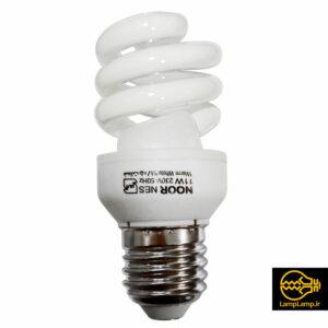 لامپ کم مصرف ۱۱ وات پایه E27 نور لامپ