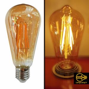 لامپ فیلامنتی توان ۸ وات خمره ای گلد ای دی سی