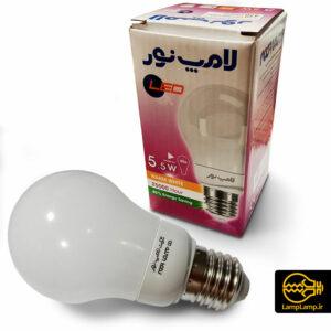 لامپ ال ای دی حبابی ۵٫۵ وات پایه e27 نور لامپ