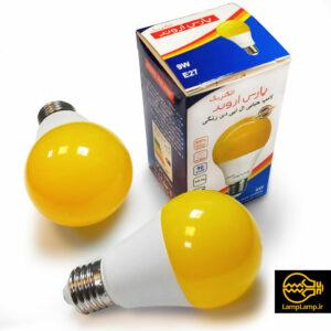 لامپ ال ای دی زرد ۹ وات پایه e27 پارس اروند