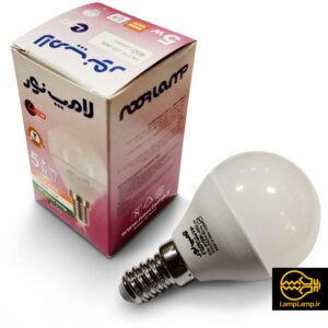 لامپ ال ای دی حبابی ۵ وات پایه E14 نور