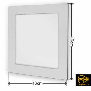 پنل ال ای دی سقفی توکار مربع ۱۲ وات یکتا افروز