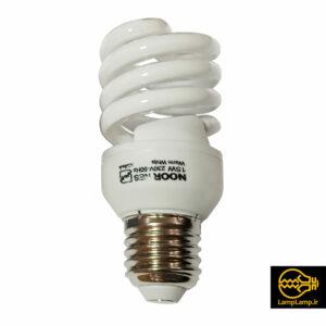 لامپ کم مصرف توان ۱۵ وات پایه e27 نور سفید
