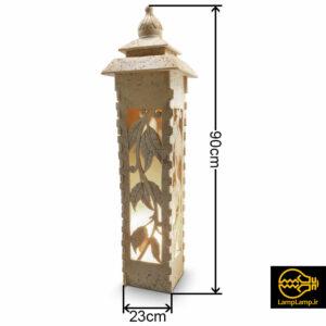 پایه چراغ سنگی چمنی سایز بزرگ مدل کلارا