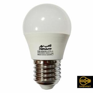 لامپ ال ای دی ۵ وات حبابی پایه e27 لامپ نور