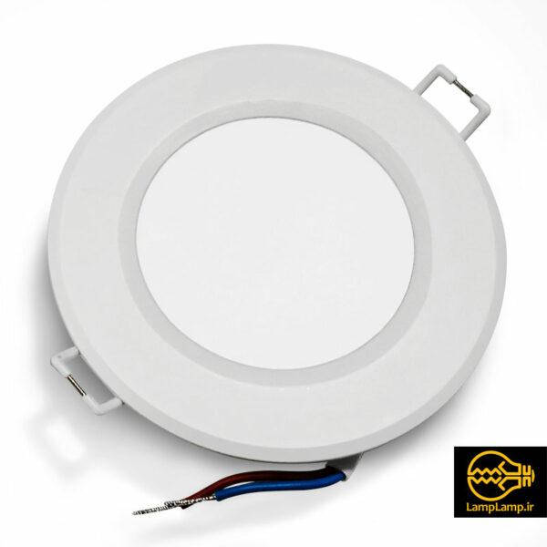 چراغ پنل ال ای دی گرد توکار 6 وات نور لامپ