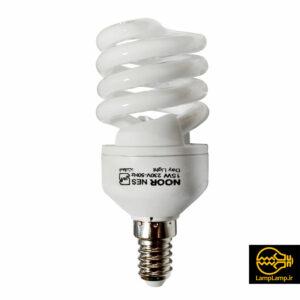 لامپ کم مصرف ۱۵ وات سفید پایه e14 برند نور