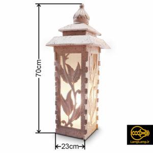 پایه چراغ سنگی چمنی مدل کلارا سایز متوسط