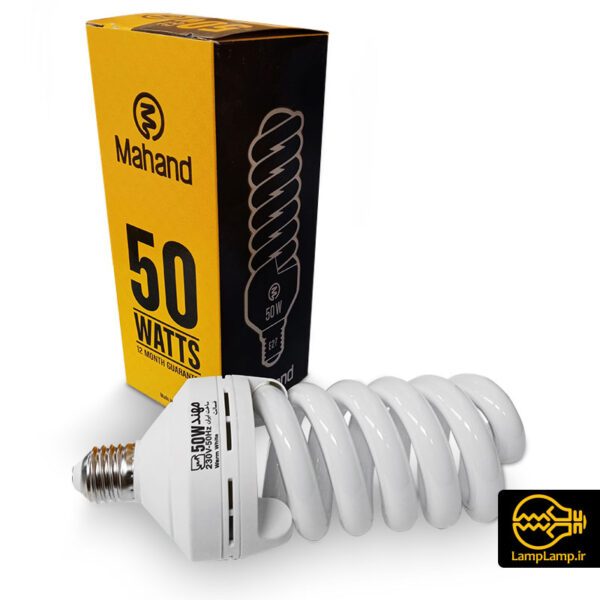 لامپ کم مصرف 50 وات سفید آفتابی مهند