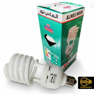 لامپ کم مصرف ۴۰ وات پایه E27 الماس نور