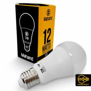 لامپ ال ای دی ۱۲ وات سفید E27 برند مهند