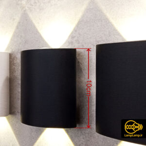 چراغ دکوراتیو دیواری دو طرفه ۶ وات خط انداز