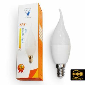 لامپ ال ای دی اشکی ۸ وات لوستری E14 نیرو الکتریک