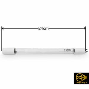 لامپ یو وی تصفیه آب ۱۱ وات ۴ پین طول ۲۴ سانتیمتر
