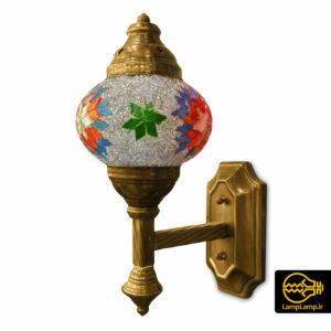 چراغ دیواری مدل مراکشی بدنه فلزی آبکاری