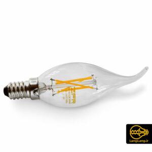 لامپ فیلامنتی اشکی ۴ وات پایه E14 برند ZFR