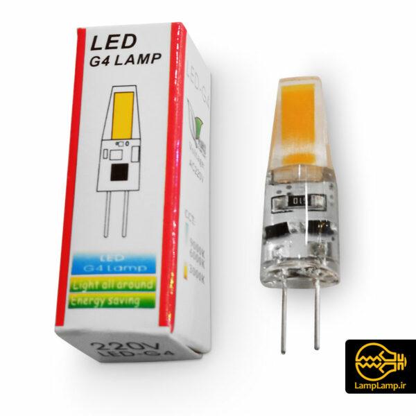 لامپ ال ای دی سوزنی پایه G4 ژله ای 2 وات 220 ولت
