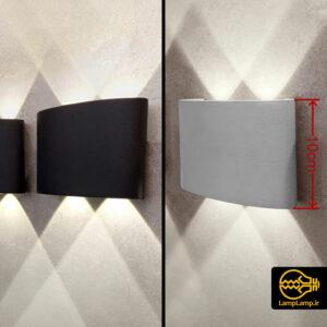 چراغ ال ای دی دکوراتیو دیواری دو طرفه لنز دار